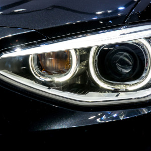 Close up of modern Car Head light